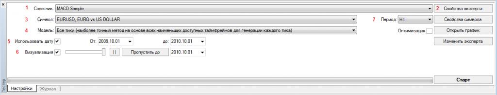 Тестер стратегий в MetaTrader 4 (МТ4) - tester_1-1024x197