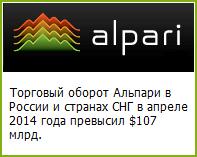 Торговый оборот Альпари в России и странах СНГ в апреле 2014 года превысил $107 млрд. - Alpari-turnover-in-Russia-and-the-CIS-countries-in-April-2014-exceeded-107-billion